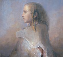 Helene in profile by Odd  Nerdrum