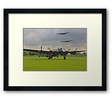 3 Lancasters - East Kirkby  Framed Print