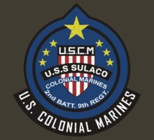 Aliens - U.S.S. Sulaco - Colonial Marine Corps (Distressed Effect)   by James Ferguson - Darkinc1