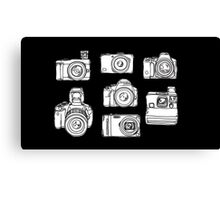 Drawings Of Different Cameras Canvas Print