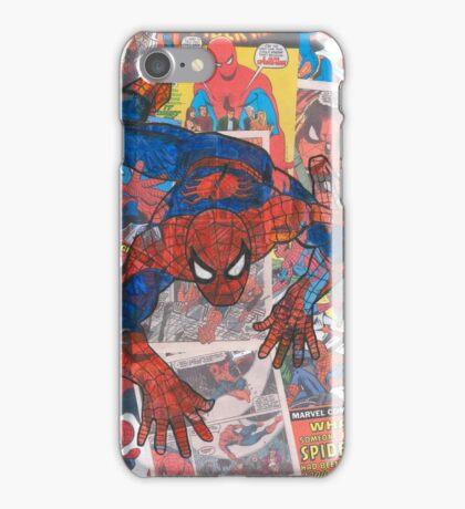 Vintage Comic Spiderman iPhone Case/Skin