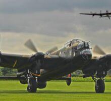 3 Lancasters - East Kirkby  Sticker