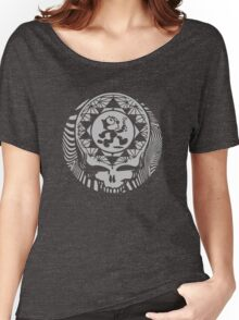 Grateful Dead -  Psychedelic Skull Felix  Women's Relaxed Fit T-Shirt