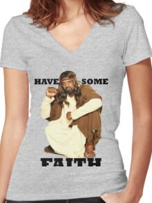 BLACK JESUS Women's Fitted V-Neck T-Shirt