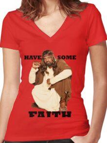 BLACK JESUS Women's Fitted V-Neck T-Shirt