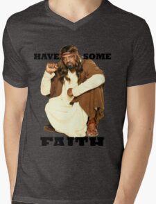 BLACK JESUS Mens V-Neck T-Shirt