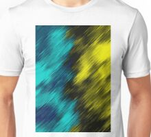 blue black and yellow painting texture abstract background Unisex T-Shirt