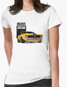 Ford Mustang Boss 302 Womens Fitted T-Shirt
