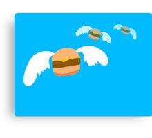 Flying Burgers Canvas Print