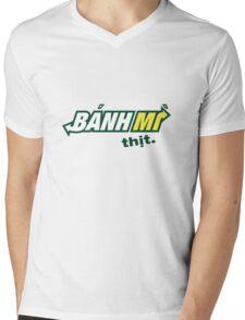 Banh Mi Thit Logo Parody Mens V-Neck T-Shirt