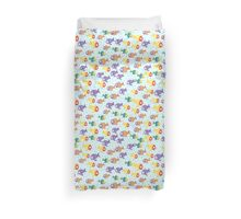 Abstract color cartoon fishes in the sea Duvet Cover