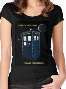 Every Christmas Is Last Christmas Doctor Who Women's Fitted Scoop T-Shirt