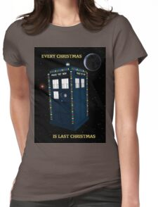 Every Christmas Is Last Christmas Doctor Who Womens Fitted T-Shirt