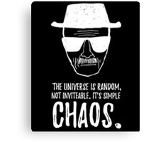It's Simple Chaos Canvas Print