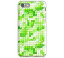 Pixel City - Green iPhone Case/Skin