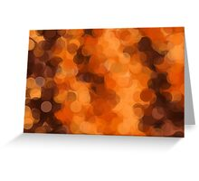 brown yellow and dark brown circle abstract background Greeting Card