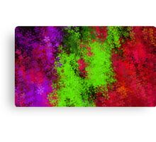 green red and purple flowers abstract background Canvas Print