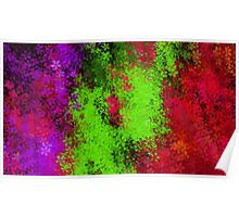 green red and purple flowers abstract background Poster