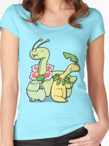 Leafy Dino's Women's Fitted Scoop T-Shirt