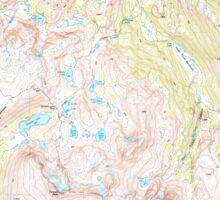 USGS TOPO Map California CA Tower Peak 295508 2001 24000 geo Sticker