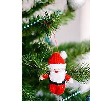 knitted santa Photographic Print