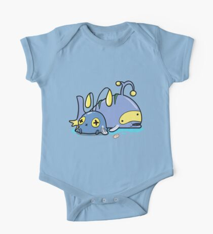 Chubby whales One Piece - Short Sleeve