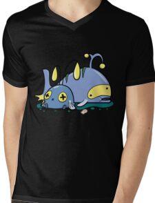 Chubby whales Mens V-Neck T-Shirt