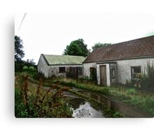 Abandoned Cottage on a Rainy Day, Donegal, Ireland Metal Print