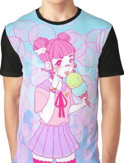 Harajuku Girl Ice Cream Graphic T-Shirt