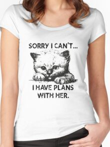 Plans With My Kitten T-Shirt Women's Fitted Scoop T-Shirt