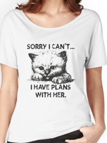 Plans With My Kitten T-Shirt Women's Relaxed Fit T-Shirt