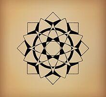 Mandala #215 || Tan by RedBookJournals