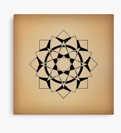 Mandala #215 || Tan Canvas Print