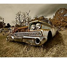 Abandoned 1959 Ford Galaxie 500 Photographic Print