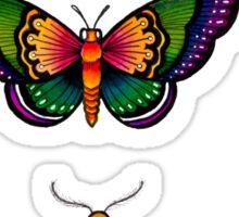 Obligatory Butterflies Sticker