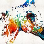 Colorful Horse Art - Wild Paint - By Sharon Cummings by Sharon Cummings
