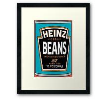 Retro Heinz Baked Beans Can PopArt Framed Print