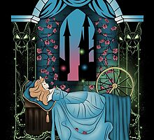 The Sleeping Rose - Blue Dress by Nados