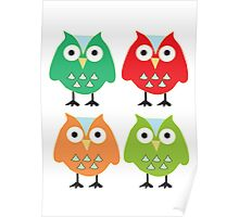 Cute owls Poster