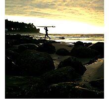 Surfer Sunset Photographic Print