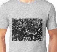 Tropical Tree Tangle - Mono Unisex T-Shirt