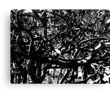 Tropical Tree Tangle - Mono Canvas Print
