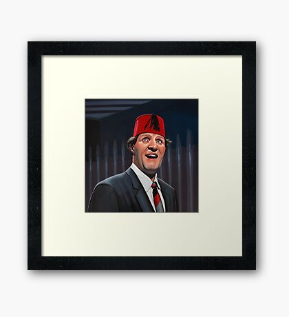 Tommy Cooper Painting Framed Print