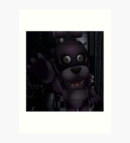 Creepy Staring Bonnie Art Print