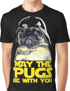 Funny Star Wars May The Pugs Be With You Graphic T-Shirt