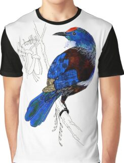 Tui - New Zealand bird Graphic T-Shirt