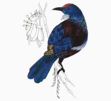 Tui - New Zealand bird Kids Tee