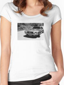 1967 Ford Mustang B/W  Women's Fitted Scoop T-Shirt