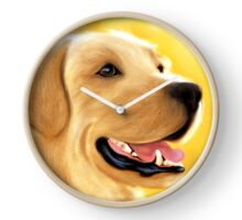Yellow Lab Portrait Clock