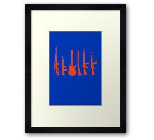 weapon of choice Framed Print
